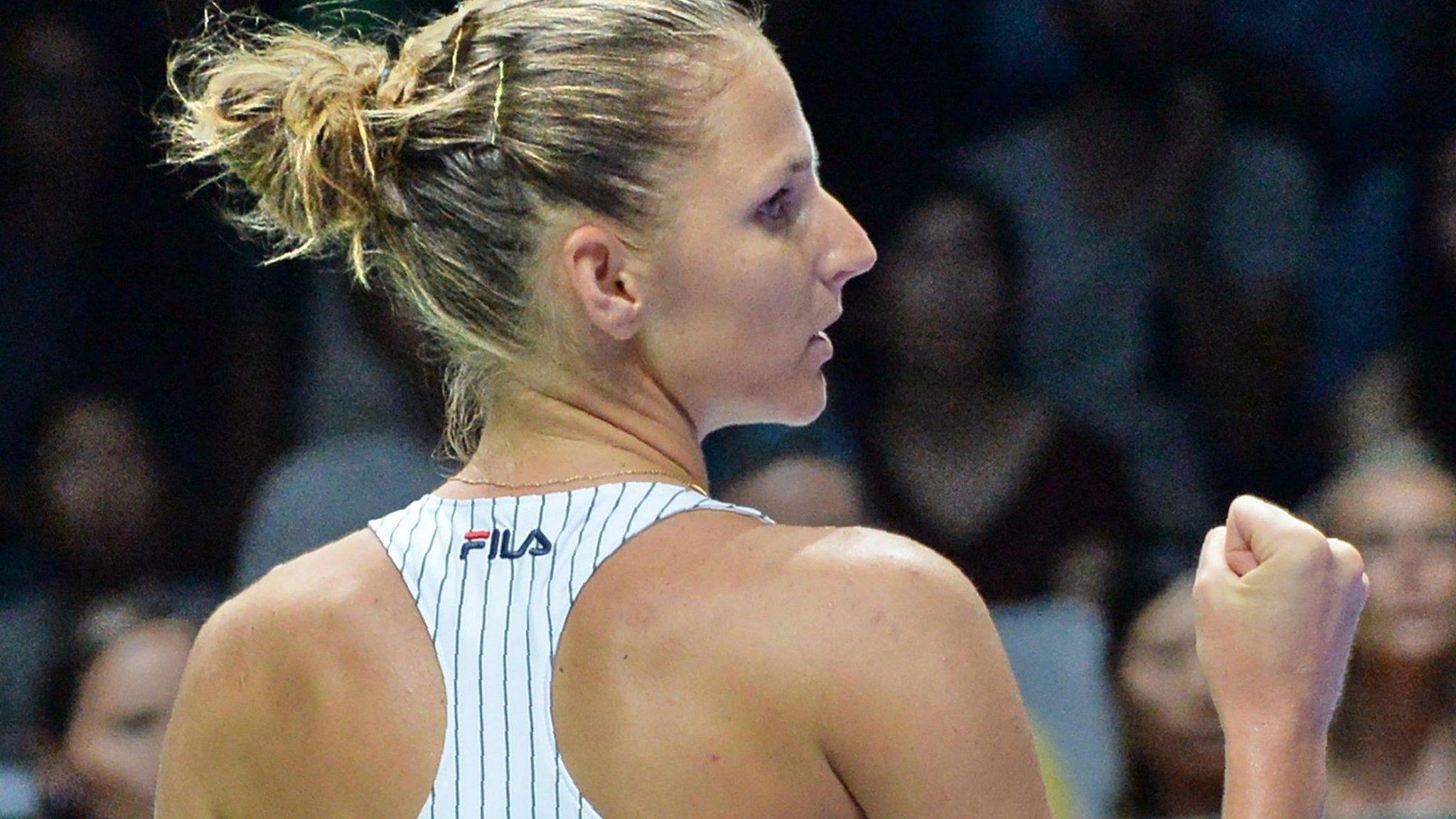 WTA Finals: Karolina Pliskova beats Venus Williams in Singapore