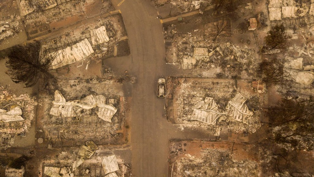 California wildfires: Drone footage shows Paradise devastation