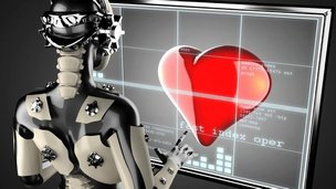 Robot with love heart