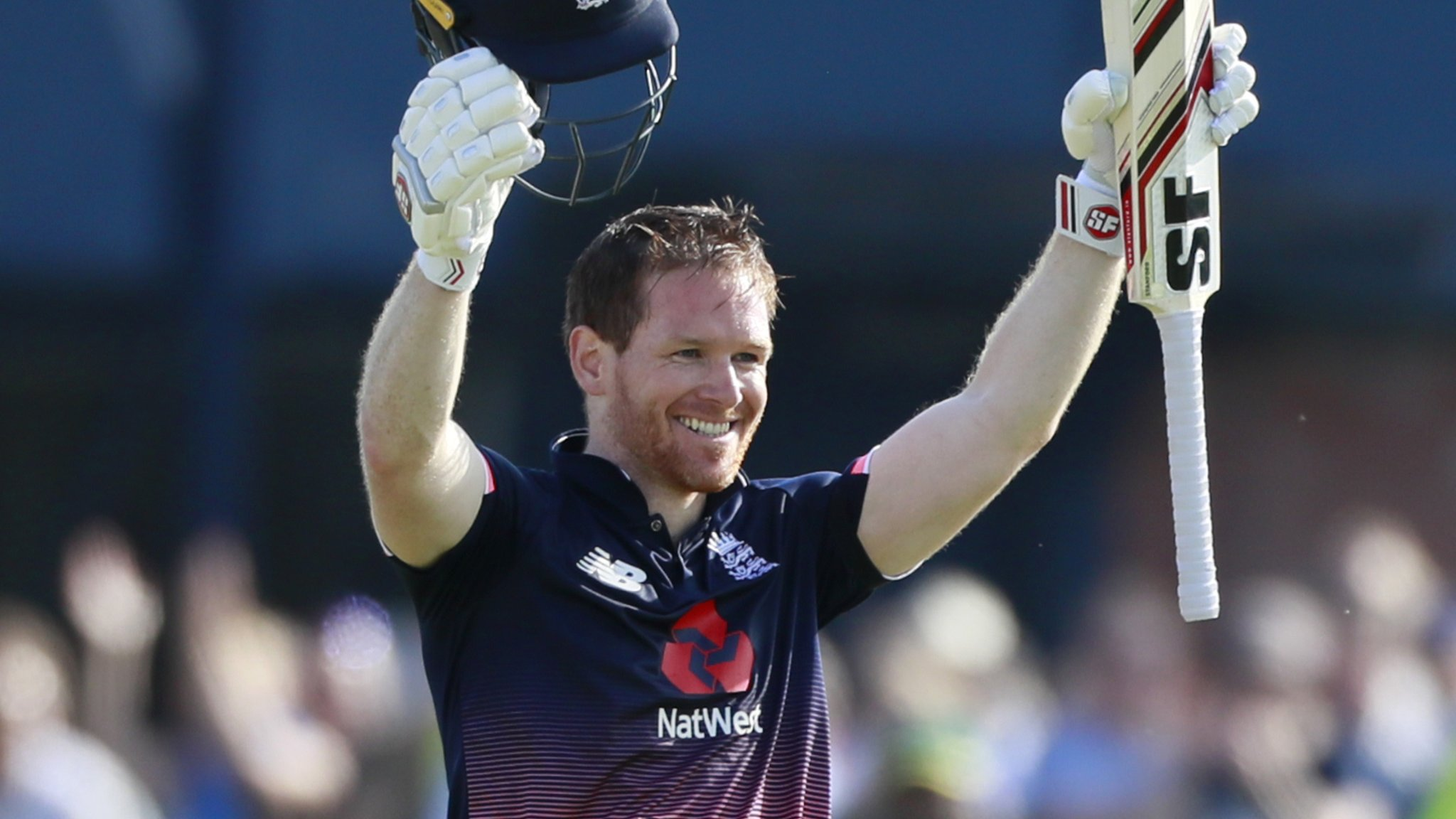 England v South Africa: Eoin Morgan gets century with a six