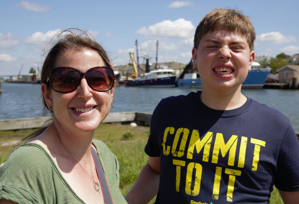 Amy y su hijo