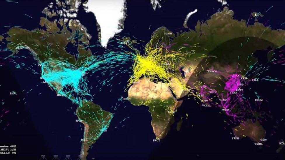 Mapa Vuelos En Directo.Los Mapas Que Muestran Los Niveles Record De Trafico Aereo Y Los Planes De La Nasa Para Mejorarlo Bbc News Mundo