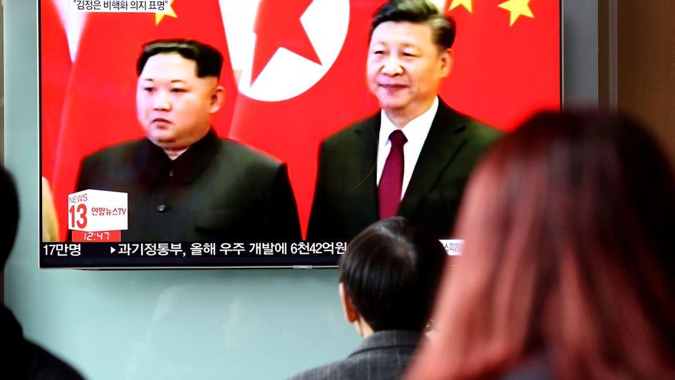 Kim habló de la desnuclearización durante su histórico encuentro con Xi Jinping en Pekín.