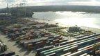 Southampton docks aerial