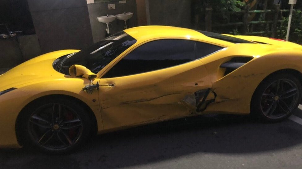 Sympathy for overworked Taiwan man who ploughed into Ferraris