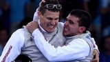 British fencers celebrate