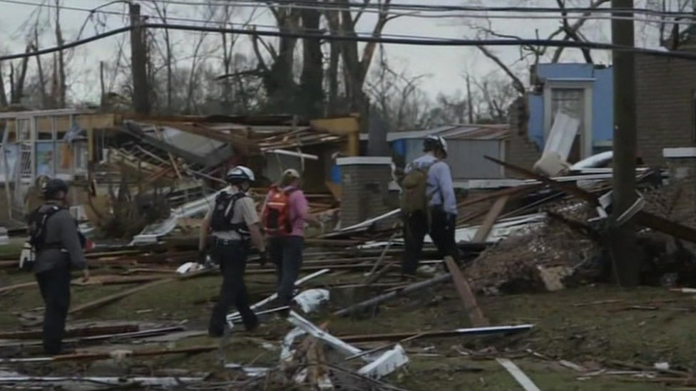 Georgia storms: At least 11 dead in US state