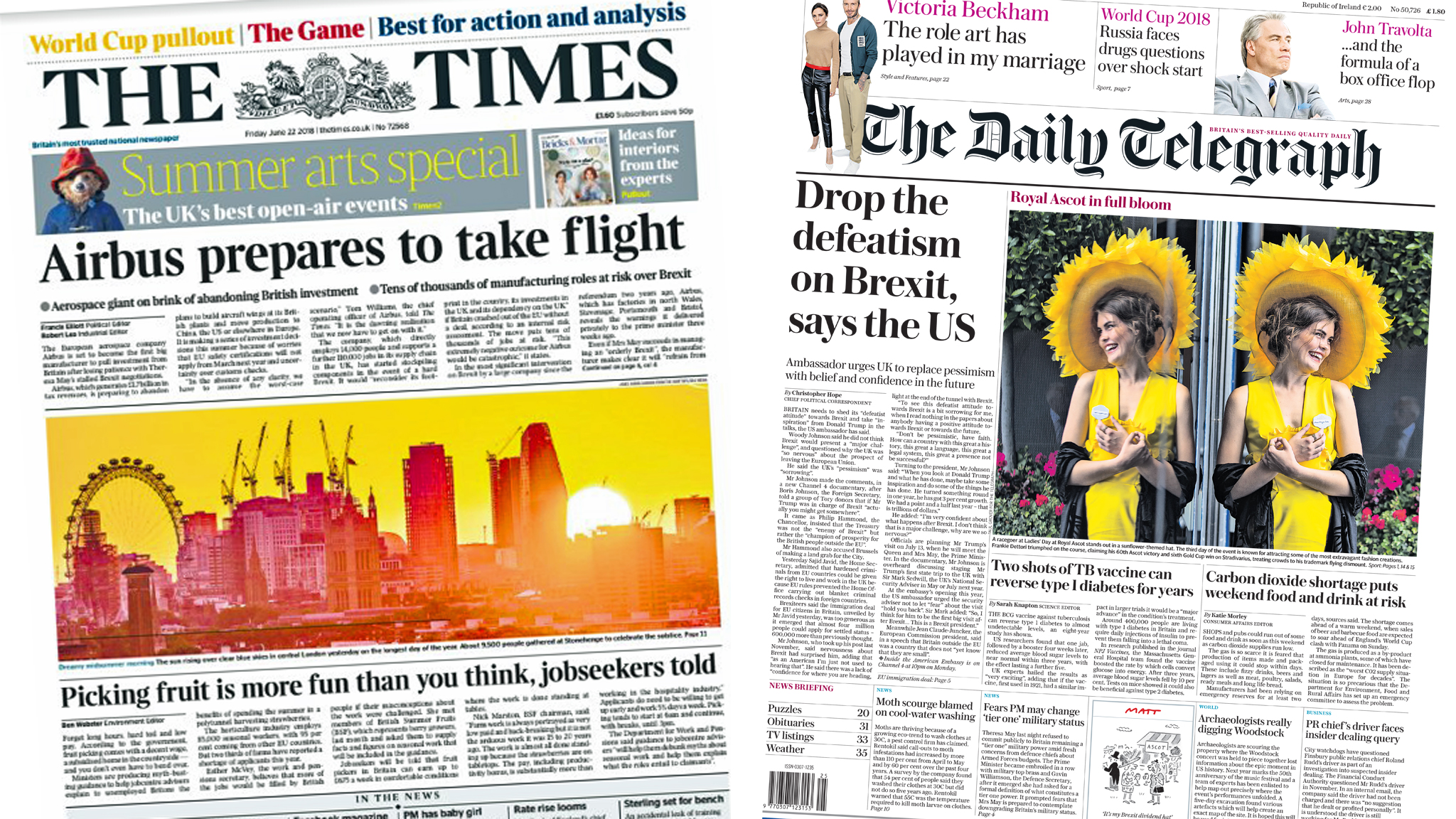 The Papers: Fears and confidence over Brexit