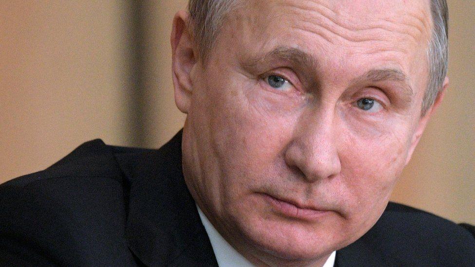 صورة الرئيس الروسي فلاديمير بوتين