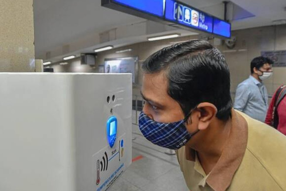 Hands free thermal screening device installed at Rajiv Chowk