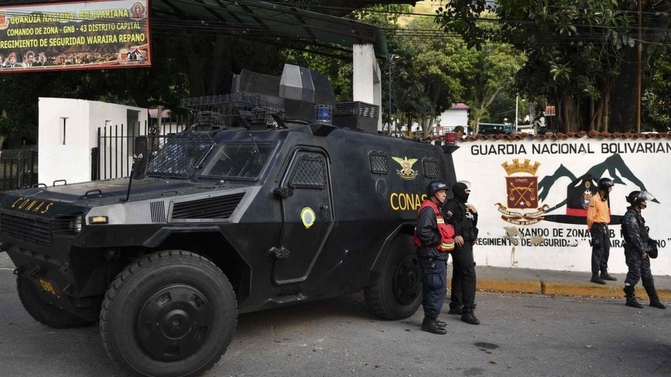 Detienen a un grupo de militares de Venezuela que supuestamente intentó rebelars ...