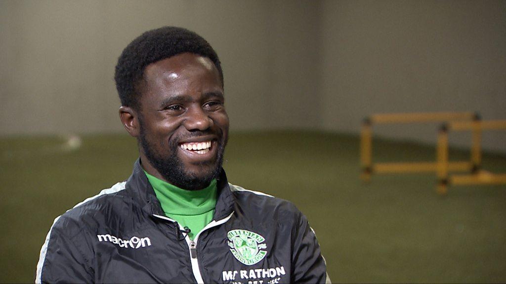 Gael Bigirimana: Hibs and Burundi midfielder on how he talked his way into football