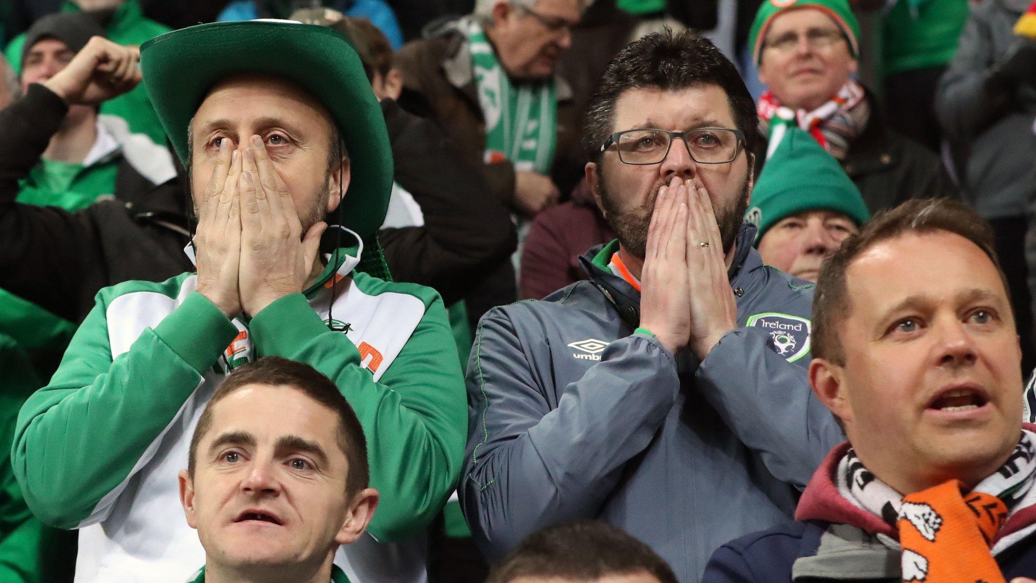 World Cup play-off: Denmark 0-0 Republic of Ireland