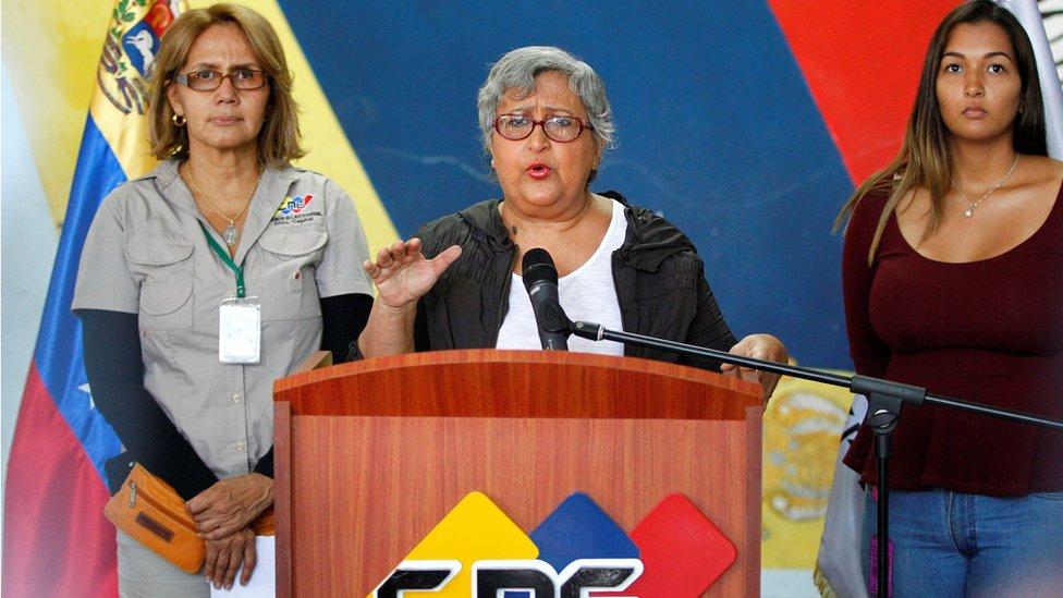 Tibisay Lucena, presidenta del Consejo Nacional Electoral.