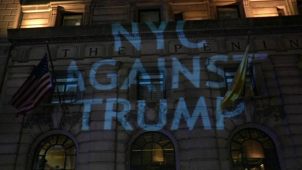 نيويورك شهدت مظاهرات رافضة لترامب