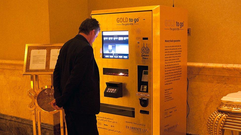 máquina expendedora de lingotes de oro
