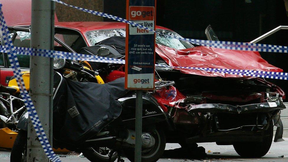 Melbourne car deaths: Four killed as driver strikes pedestrians
