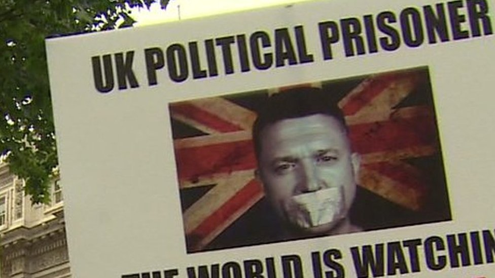 UK media coverage of Tommy Robinson jailed for contempt | BBC