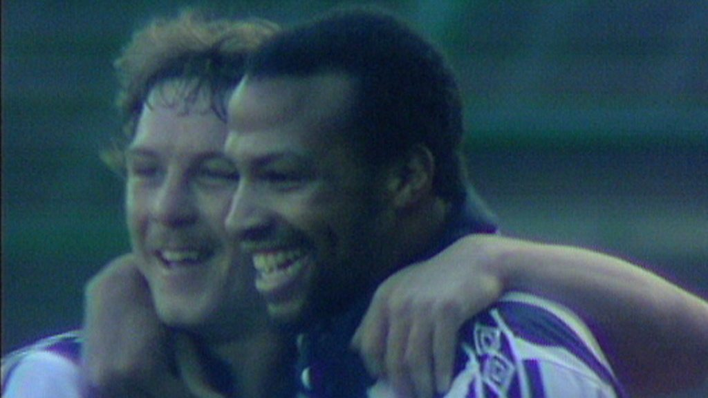 Cyrille Regis scores goal of the season for West Bromwich Albion in 1982