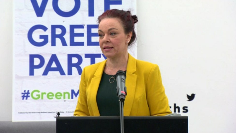 Green Party leader urges voters to 'disrupt the narrative'