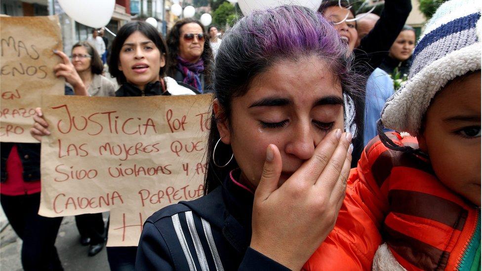 Protesta por la muerte de Yuliana Samboni