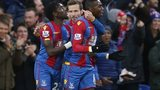 Yannick Bolasie celebrates scoring for Crystal Palace