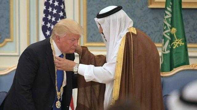 سعودي عربستان ته د ډونلډ ټرمپ سفر