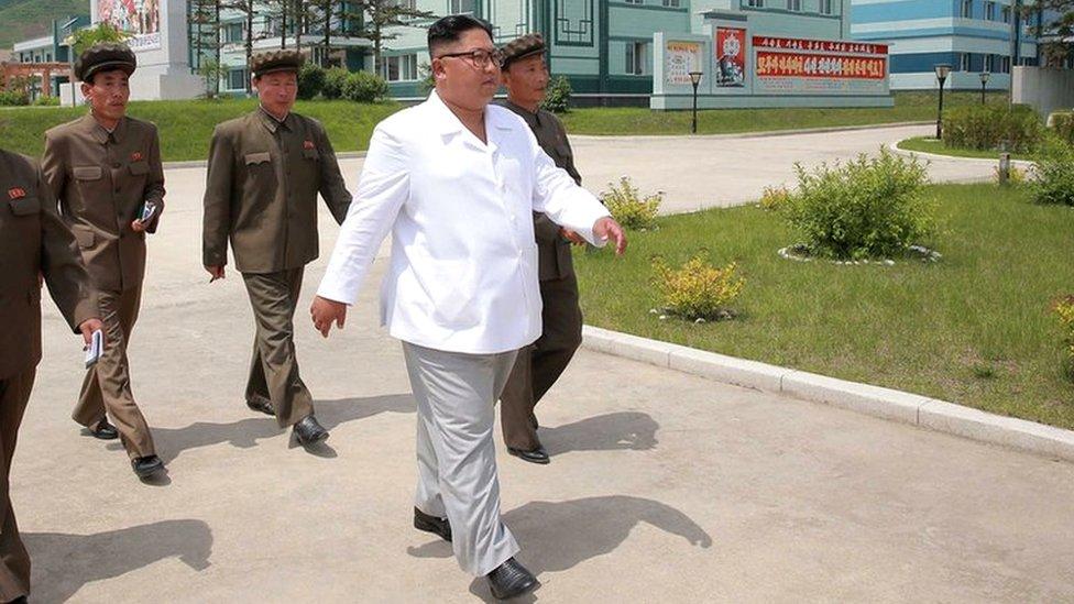 Kim Jong-un blasts delays in North Korean economic progress | BBC