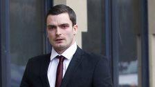 Footballer Adam Johnson arrives at Bradford Crown Court on Friday 12 February