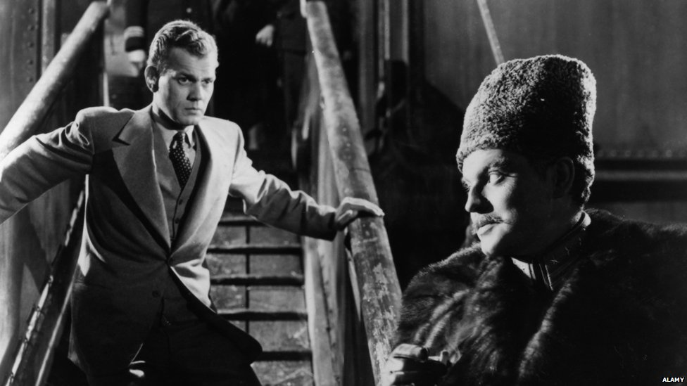 Joseph Cotten and Orson Welles in Journey Into Fear (1943)