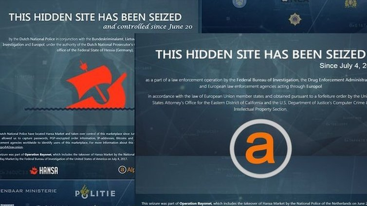 AlphaBay and Hansa dark web markets shut down