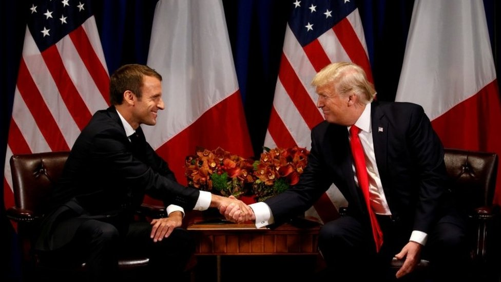 Iran nuclear deal: Macron urges Trump to stick with 2015 accord | BBC