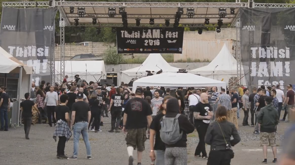 A view of revellers at the Tbilisi Jam 2016 festival