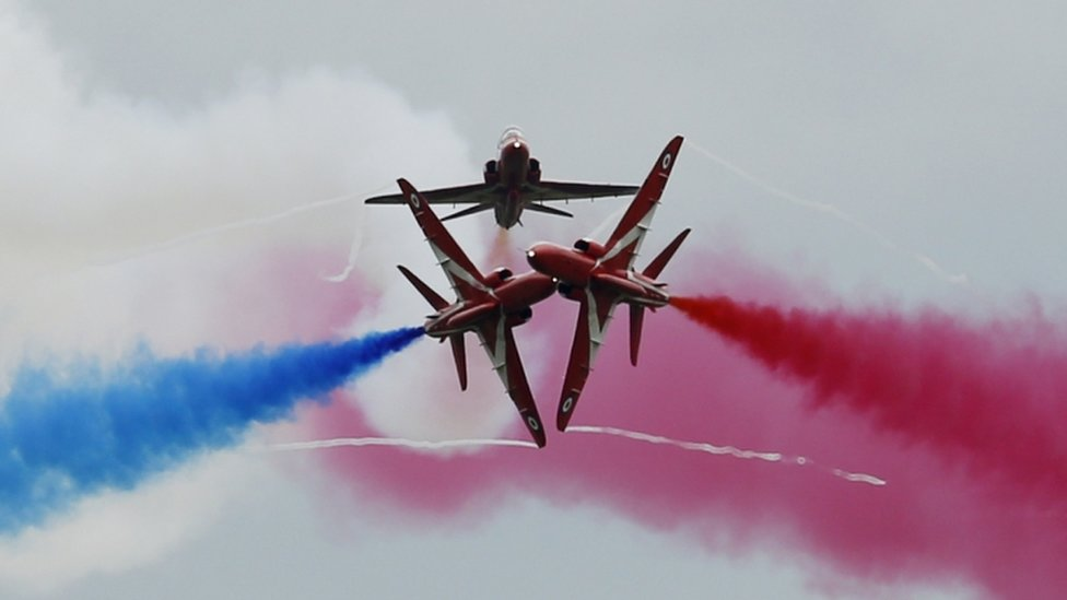 Red Arrows headline Scotland's national airshow