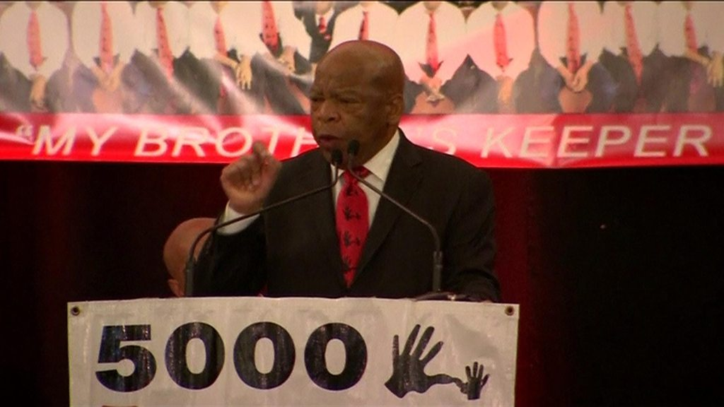 John Lewis tells Americans on MLK day: 'You must never hate'