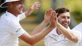 Stuart Broad, Mark Wood and James Anderson