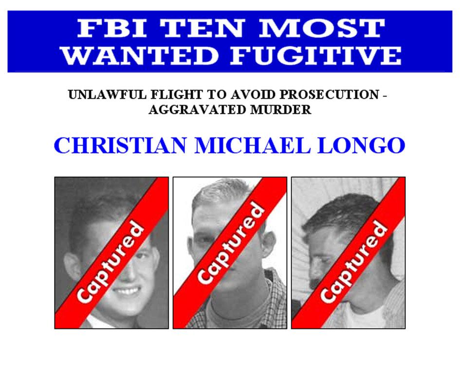 Christian Longo en un aviso de los diez más buscados del FBI