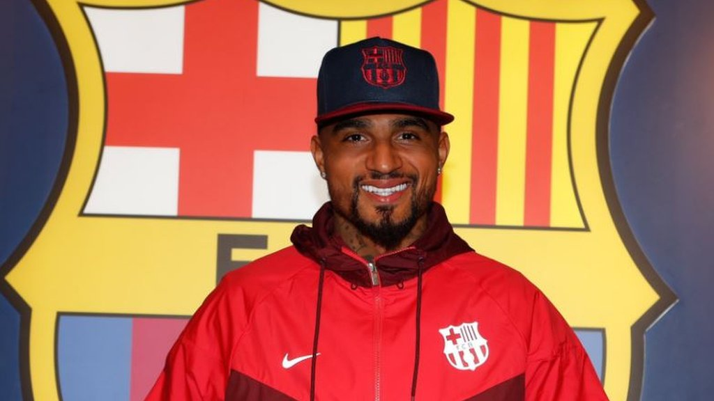 Barcelona: Kevin-Prince Boateng makes 'dream' loan move from Sassuolo