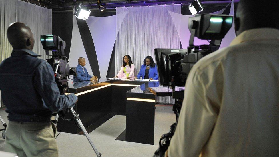 Ivory Coast TV studio