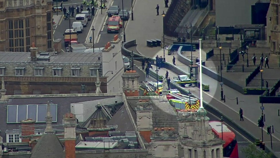 Watch: Moment car crashes into Parliament