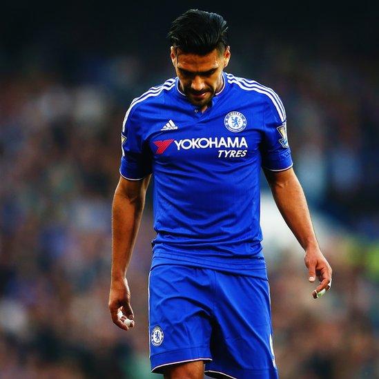 Falcao con la camiseta del Chelsea