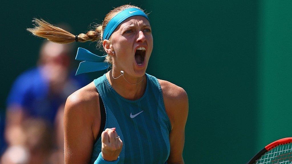 Relaxed Kvitova retains Birmingham title