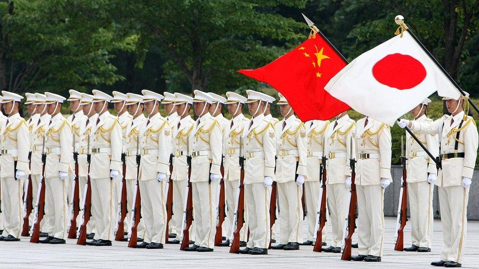 中國和日本國旗