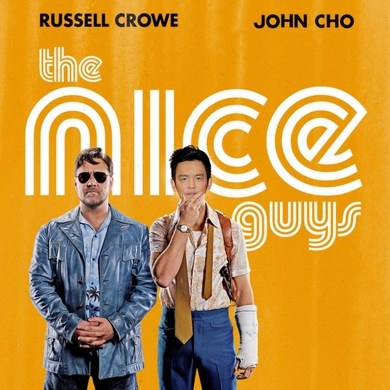 John Cho as the lead character in The Nice Guys movie poster