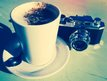 Camera and a coffee
