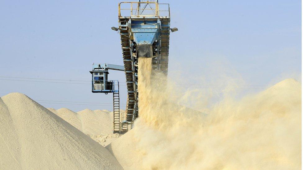 Phosphate facility in Western Sahara