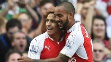 Arsenal forwards Alexis Sanchez and Theo Walcott