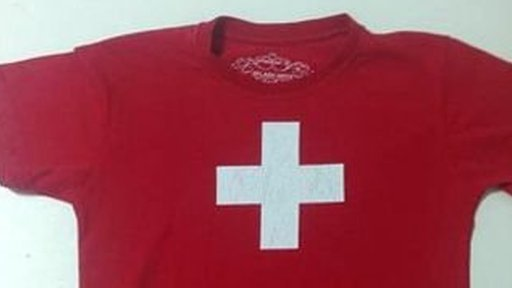 Rogerio Maudonnet's son was targeted for wearing a shirt bearing the Swiss flag - classmates mistakenly thought it represented the Workers' Party