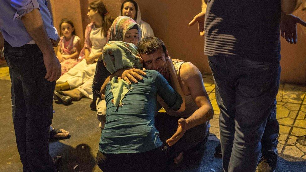 Turkey wedding blast 'heard across city'