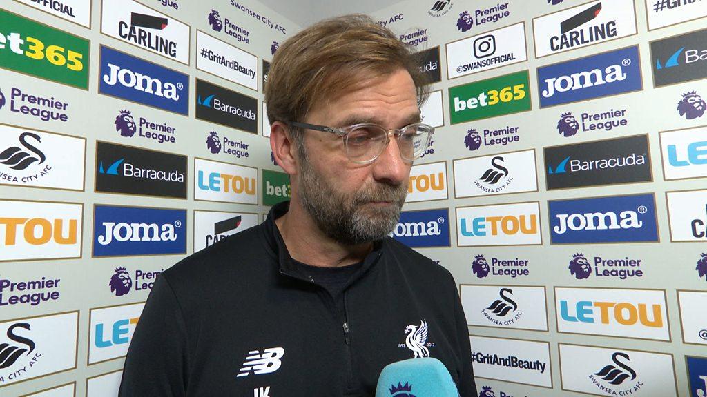 Swansea 1-0 Liverpool: Jurgen Klopp 'frustrated' after defeat to Swansea